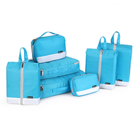 Hot selling character luggage travel bag with low price Clothes Storage Bags 7 Set Travel Luggage Organizer Bag