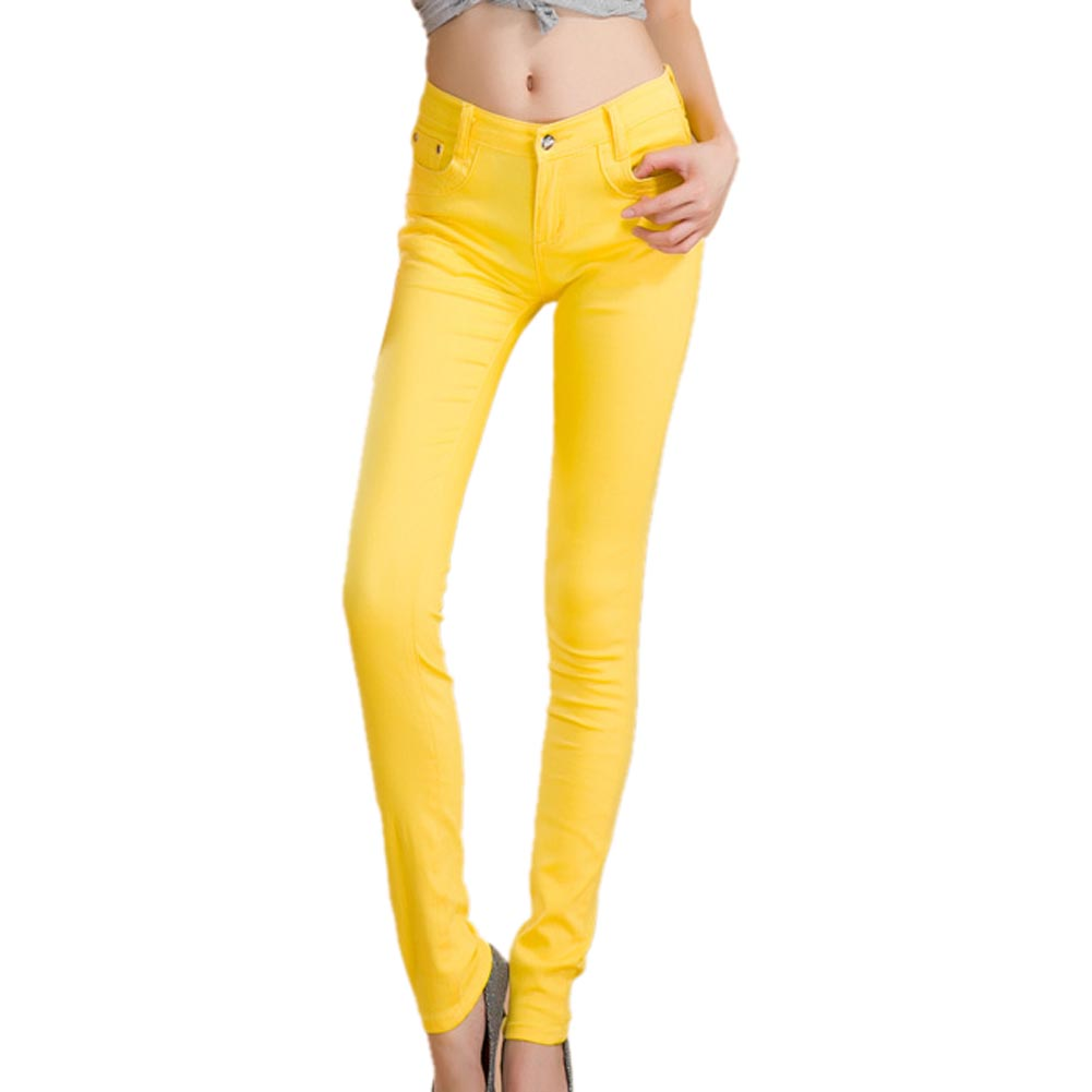 3c4816208916 2019 Newest Summer Yellow Female Stretch Candy Colored Pencil ...
