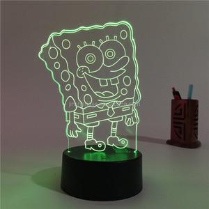 SpongeBob SquarePants LED Color Changing 3D Led Night Light For Kids  Children