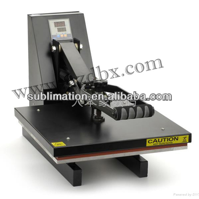 Cheap price of vinyl printer plate heat press machine of clothing factories in china