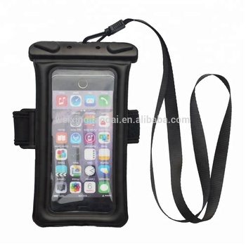High Quality Diving Waterproof cellphone Pouch with Armbrand and Lanyard