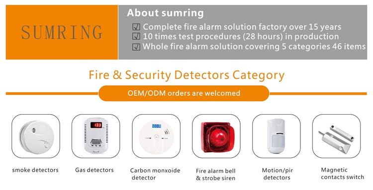 Alta Sensibilidade do Agregado Familiar 9 v Bateria Operado Stand Alone Detector de Monóxido De Carbono CO Alarme com Display LCD