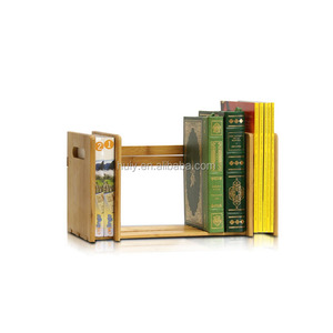 educational student use desktop stationery wooden bookcase with compartment