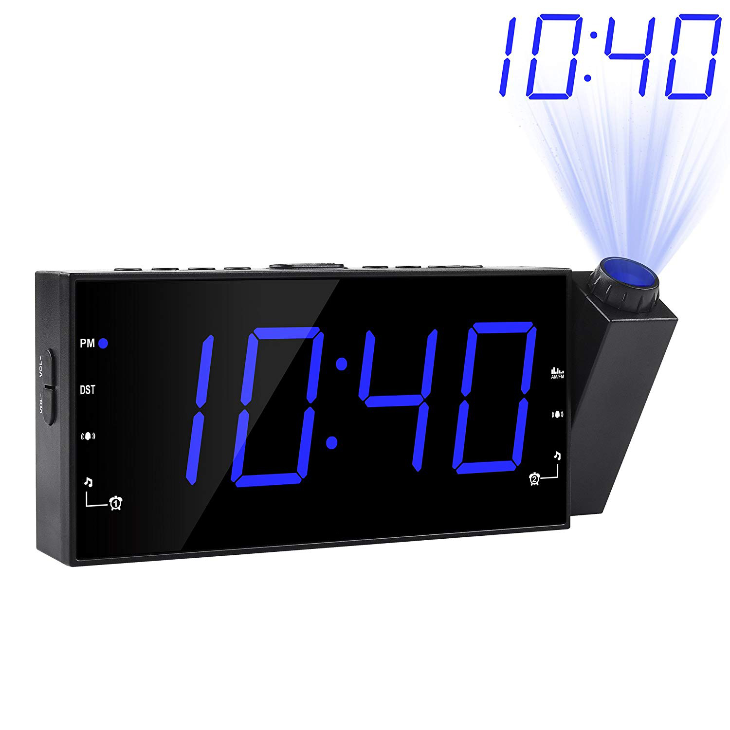 Creative personality bedside multi-funtion custom wall electronic projection bedside digital alarm clock