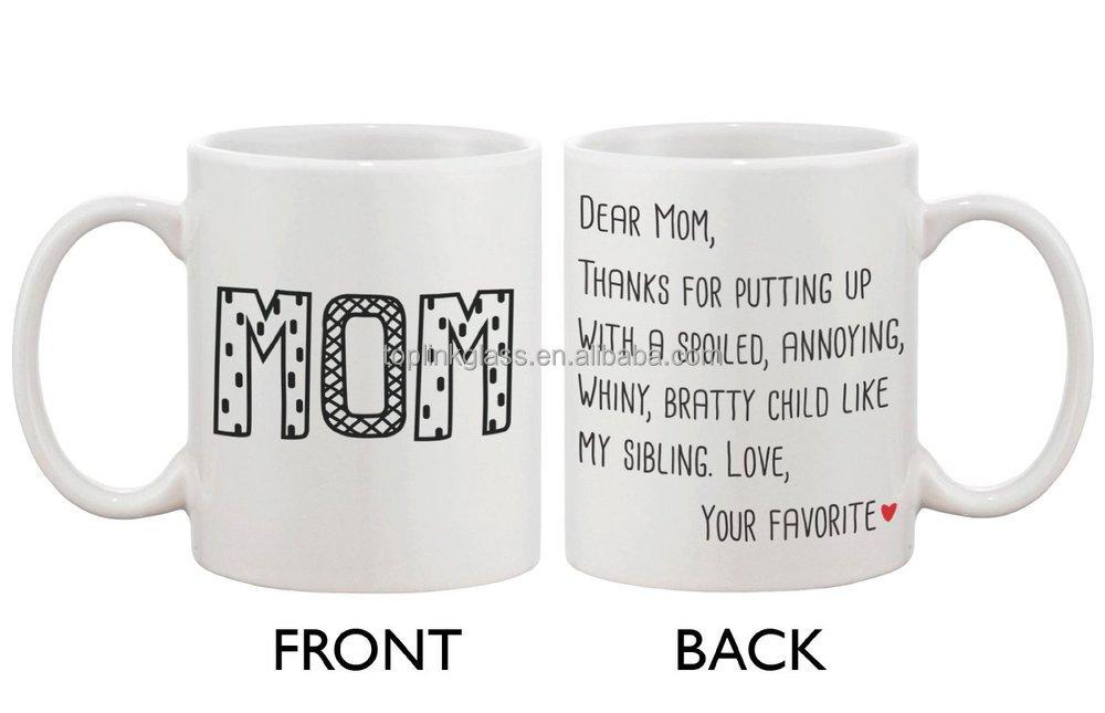 Connu Mignon Céramique Tasse De Café Pour Maman - Cher Maman De Votre  VZ28