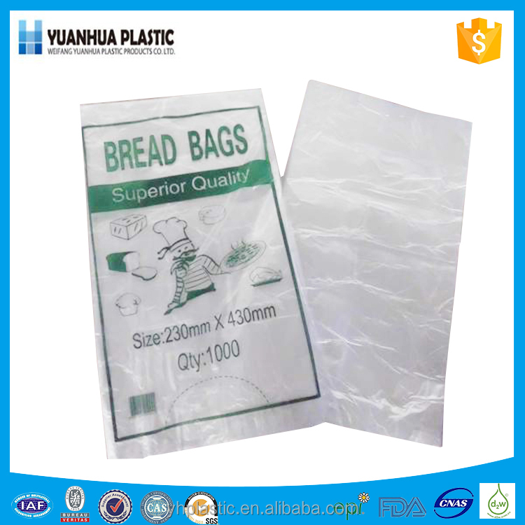 HDPE white transparent cheap printed plastic flat bag for food