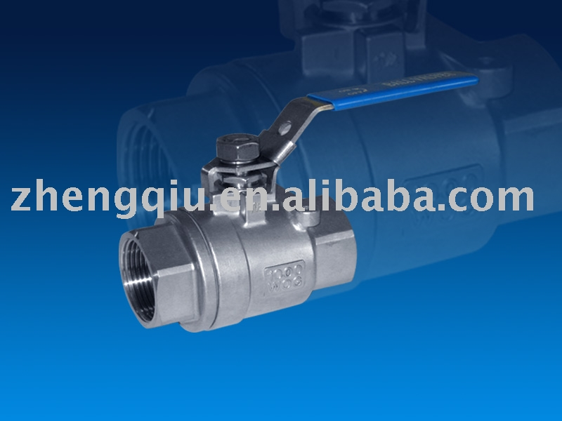 2PC BALL VALVE FULL BORE WITH LOCKING 1000WOG THREADED END (ZQ602L)