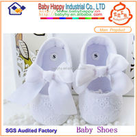 designer white lace baby crib shoes