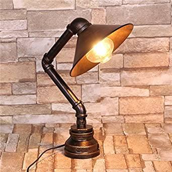 foldable desk lamp&Retro table lamp&Work lamp table lamp&LED desk lamp&Wood table lamps&Lamp shades for table lamps&Tripod table lamp Retro tube lamps (280220400mm)