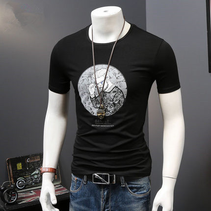OEM 95% Polyester 5% Elastane Dri Fit T-Shirts Custom Sports Slim Fit T Shirt Wholesale in China