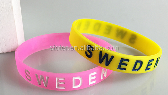 Wholesale China Cheap Sillicon OEM custom silicone bracelets at your own logo