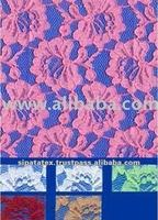 100% Polyester Rigid All-Over Raschel Knit Lace