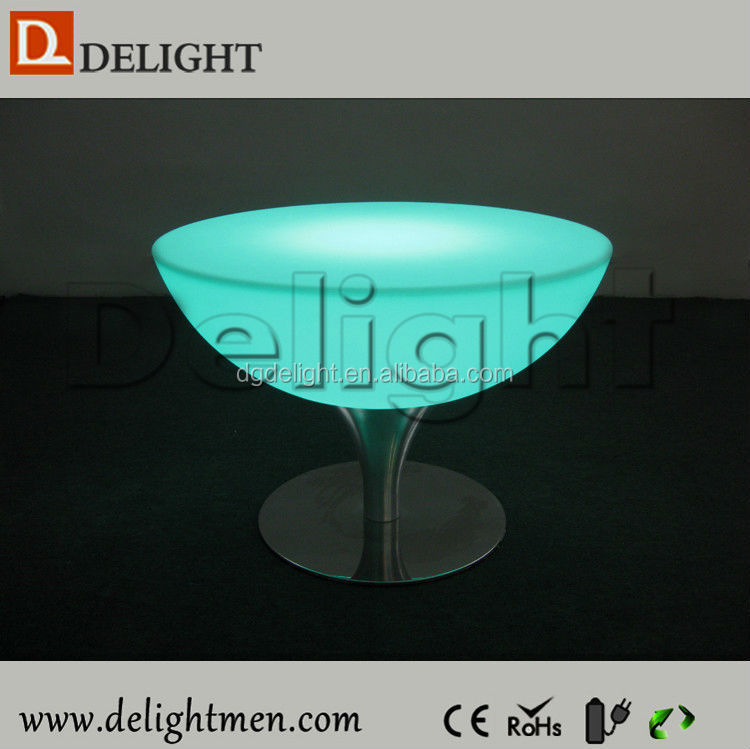 New products battery power remote control glowing night club led table for bar