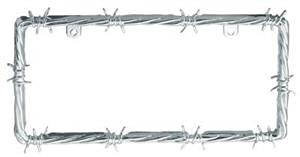 Chrome License Plate Barbwire Barbed Wire License Plate