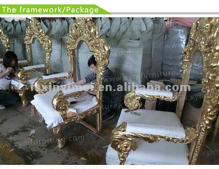 Antique Throne King And Queen Chairs XYM-H66 - Antique Throne King And Queen Chairs Xym-h66 - Buy Antique Throne