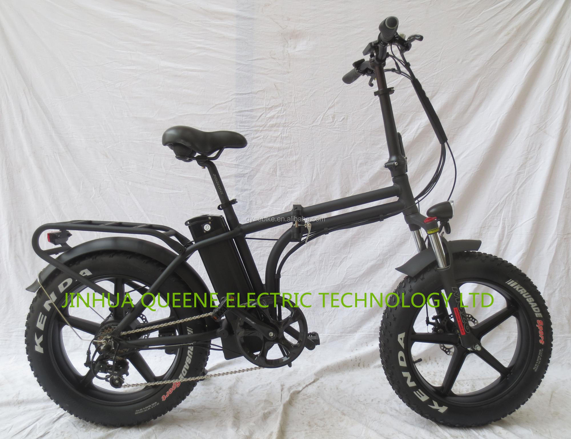 Queene New 20 Inch Fat Tyre Folding Electric Bicycle With Magnesium Integrated Motorized For Usa Market