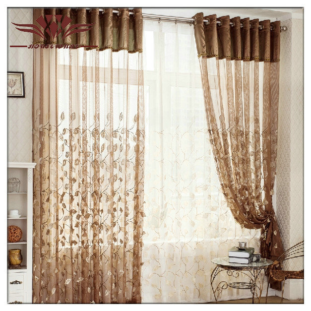 Flimsy Fabrics Relief Embroidery Sheer Curtain Panel Thin Fabric