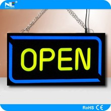Outdoor LED illuminated signs/rechargeable battery powered 12V mini illuminated open display/metal alphabet letters