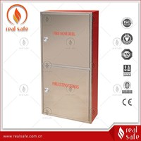 Satinless steel double door fire cabinet