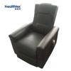 Leather recliner massage lift chair with wheels