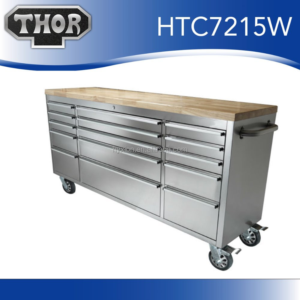 work sturdy high metal duty drawers folding with garage storage commercial table workbench bench steel top frame default desk heavy