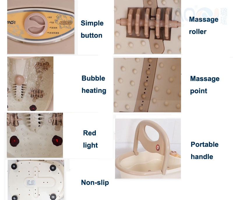 Health & Beauty Digital Foot Spa Bath Massager Therapy Motorized Rolling Heat Automatic Rollers Ample Supply And Prompt Delivery