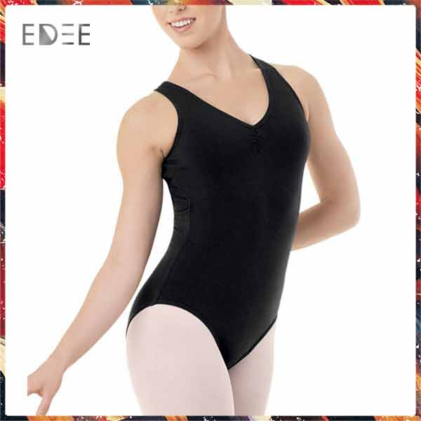 Low MOQ Factory Price Wholesale Strappy Back Leotard Women Dance Leotard Ballet Leotard