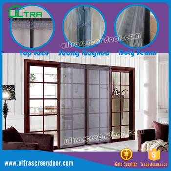 Easy Replacement Patio Screen Door Front Door Sidelight Curtains & Easy Replacement Patio Screen Door Front Door Sidelight Curtains ...