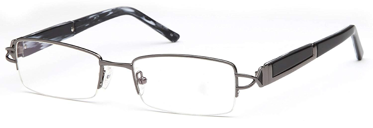 61e09911f3 Get Quotations · Mens Rectangular Glasses Frames Gunmetal Prescription  Eyeglasses Rxable 51-18-135