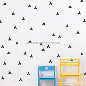 Petite Tente DIY Amovible Auto Adhésif Autocollants Wall Sticker Home Decor  Kid Chambre Salon Papier