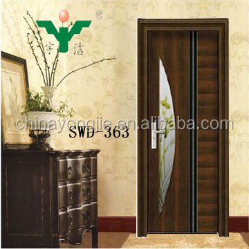 Hot Selling New Product Modern Bedroom Steel Wooden Door Design