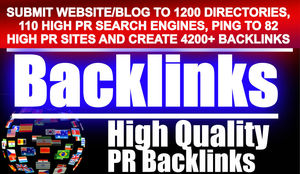 Submit your website to 4200 backlinks, 1200 directories, 110 Search engines