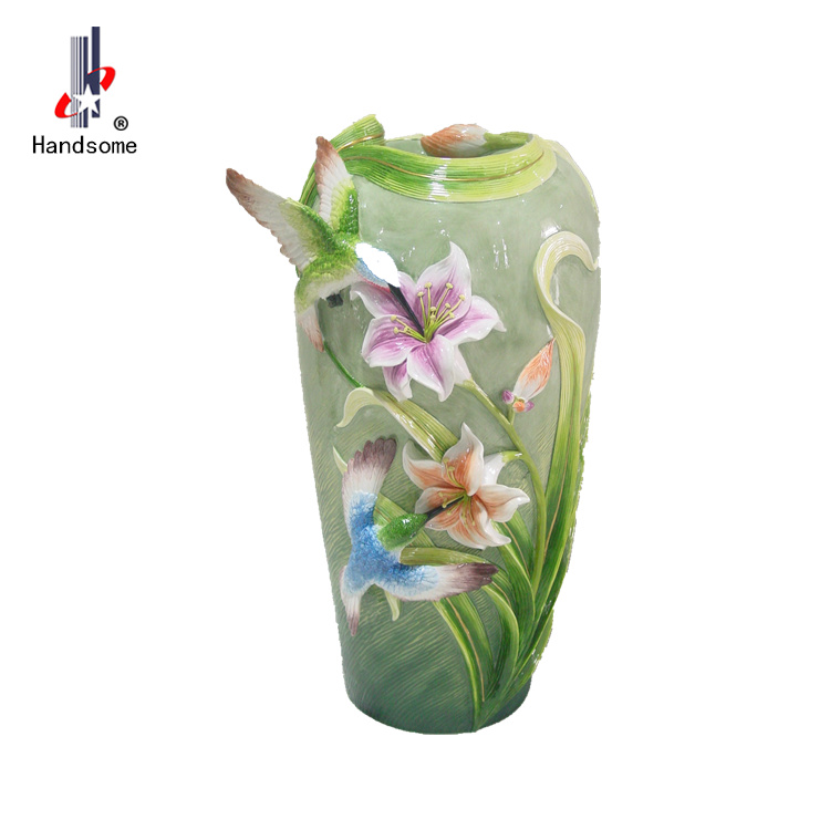 18 Inch Handmade Resin Home Decoration Flower Vase