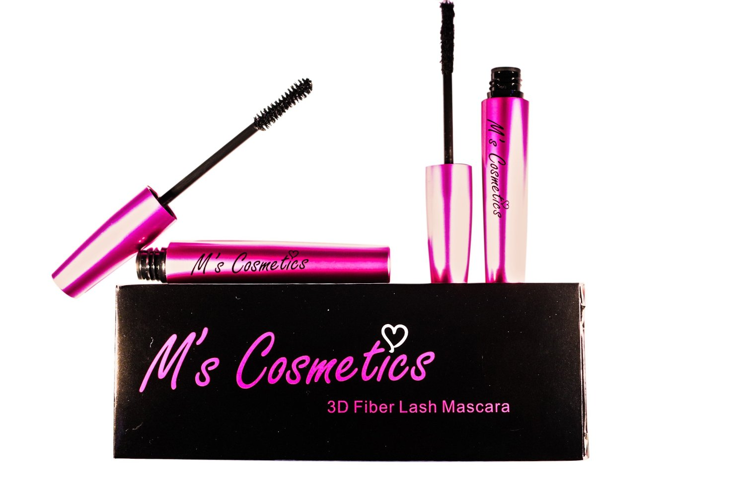 3D Fiber Lash Mascara By MsCosmetics - 100% natural Fibers- Get Thick, Long, Voluminous Effect- Up To 400% Volume Increase- Replace Fake Lashes- Waterproof-Long Lasting- Magnetic Look- Impressive Eyes