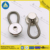 Silver color spring type high tension metal button collar extenders with knob pit surface for easy fixing