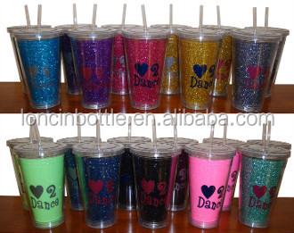 Diy Glitter Starbucks Tumbler Cup Bpa Free Gold With Straw Thermal Plastic