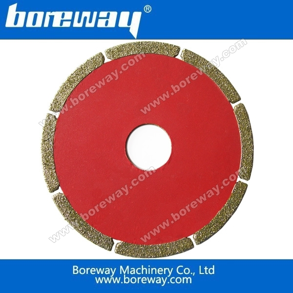 Manufacturer supply high quality 4'' 110mm electroplated marble blades