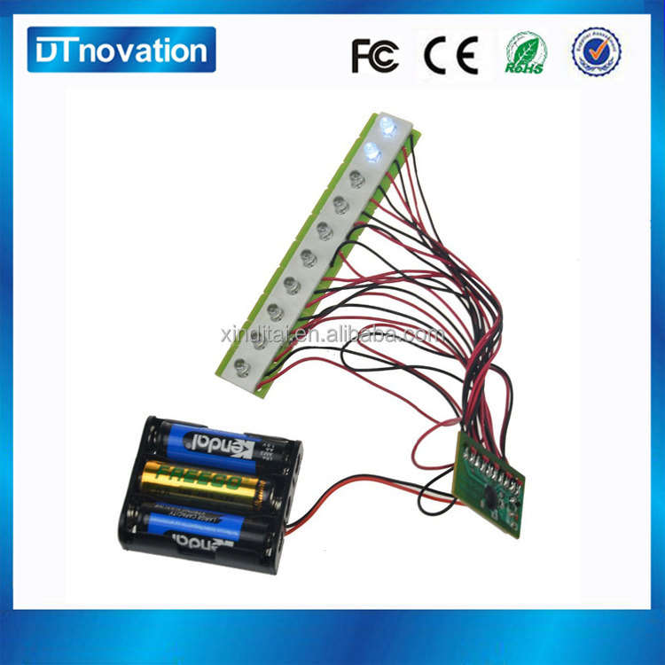 Custom motion sensor flashing led sound module for toy