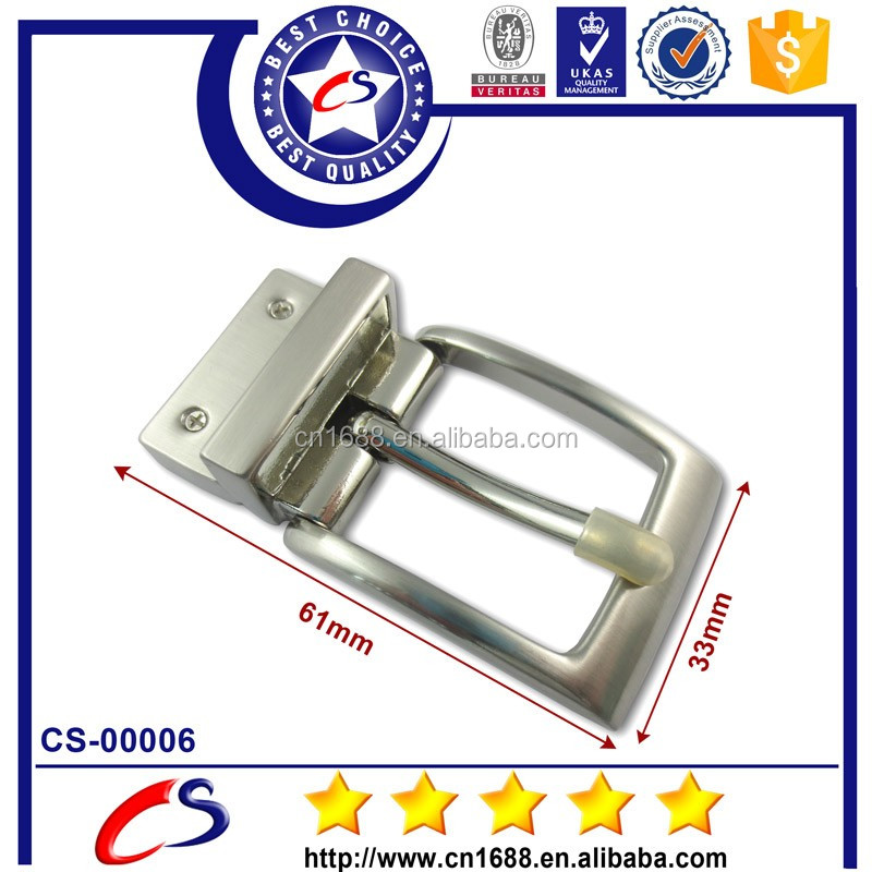 Free sample wholesale stainless steel reversible pin belt buckle