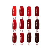 Free shipping Red Wine Series 12 pcs MIJIQUAN Gel Nail Polish 15ml 12 colors for choice