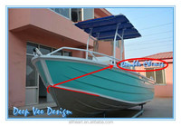 Aluminum Center Console Fishing Boat/Alloy Deep V Boat With T Top