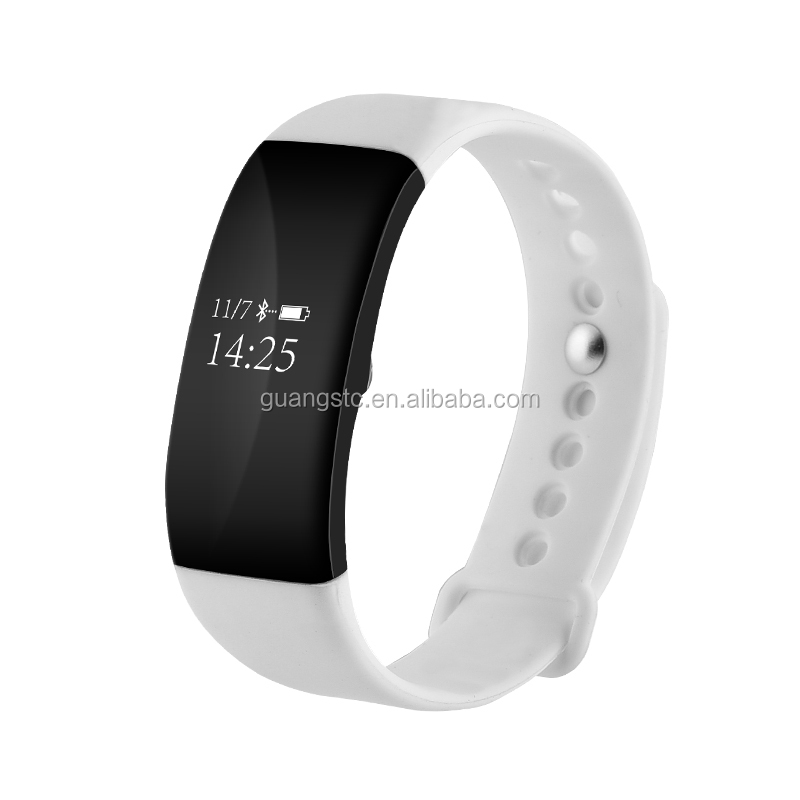 Fashion Style Health Keeper Smartband V66 Smart Wristwatch Heart Rate Sensor Sleep Monitor Alarm Clock Smartband IP68 Waterproof
