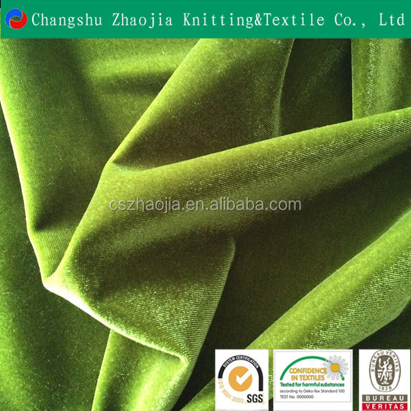 Shanghai novelty fancy textile producer Polyester Korea velvet 4 way stretch brim KS velvet fabric supplier from Chian