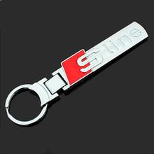 Free Shipping 3D Zinc Alloy Keychain for Audi A4L A6L Q3 Q5 Q7 Sline Rings 1pcs