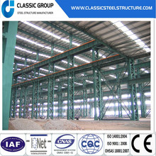 Multi-span light prefabricated steel structure workshop building