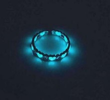 Herz Leucht Ring Glow In The Dark Verstellbaren Ring