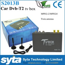 Syta Car Dvb-t2 Dream Tv Receiver with Two Antenna H.264 MPEG4 DVB-T2 Car Freenavi for Russian Europe S2013B