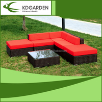 Garden wicker furniture for outdoor