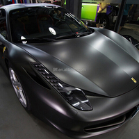 High Flexible Air Bubble Free PVC Car protective Film Grey Car Vinyl Wrap matte chrome film