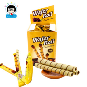 Wafer Roll Chocolate Flavor Biscuits Stick Chocolate Sweet Candy Wafer Biscuit